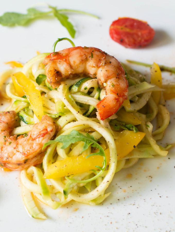 Coriander Shrimp Zoodle Salad