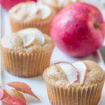 close up of apple cupcakes
